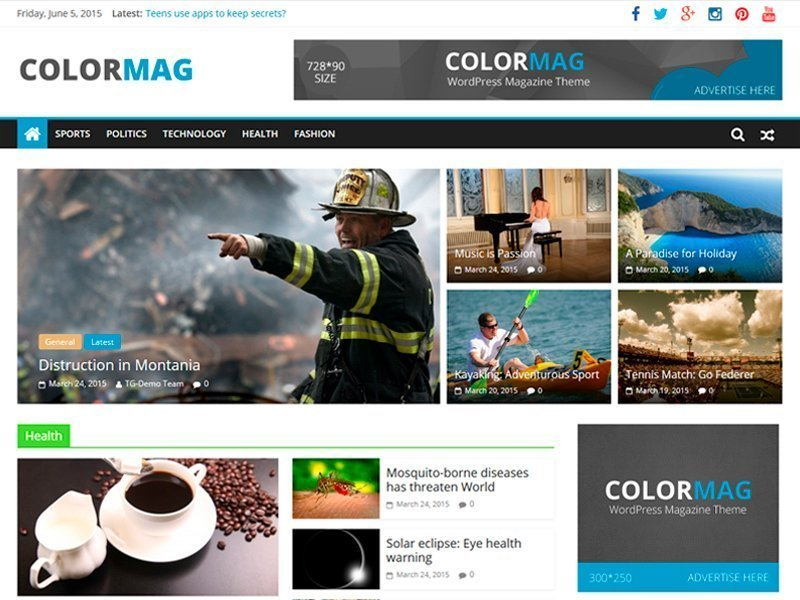 plantilla de wordpress colormag gratis