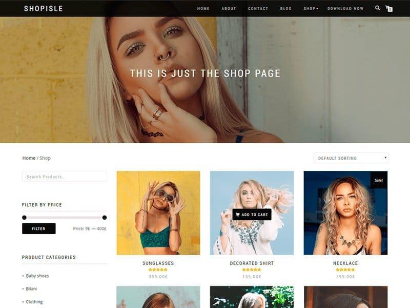 descargar plantilla para wordpress ShopIsle gratis
