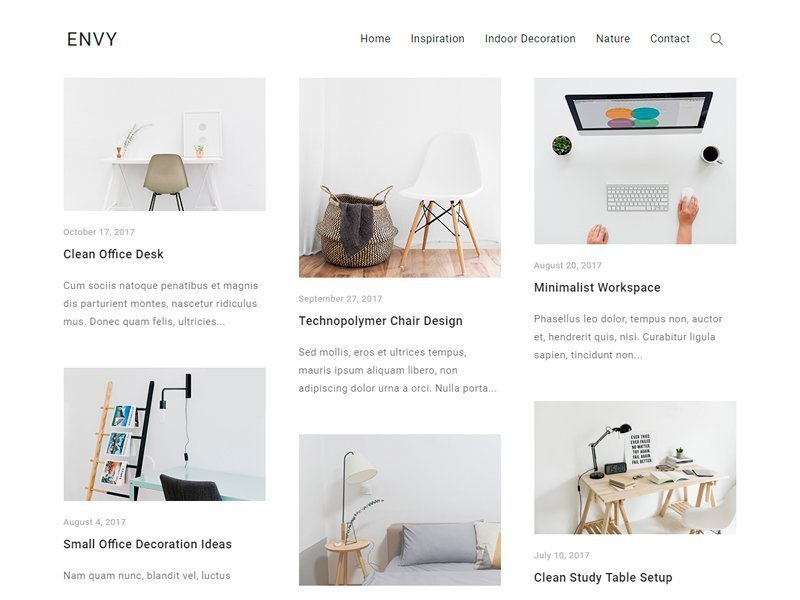descargar plantilla wordpress Envy Blog gratis