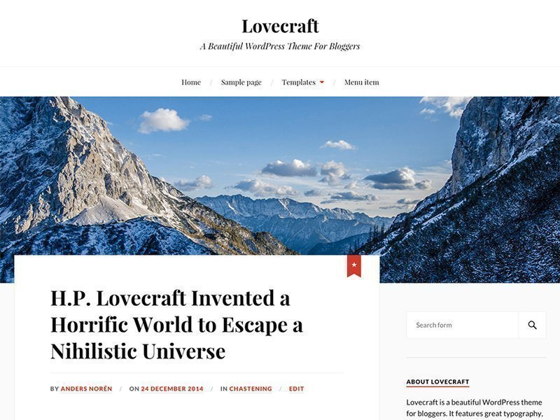 descargar plantilla wordpress Lovecraft gratis