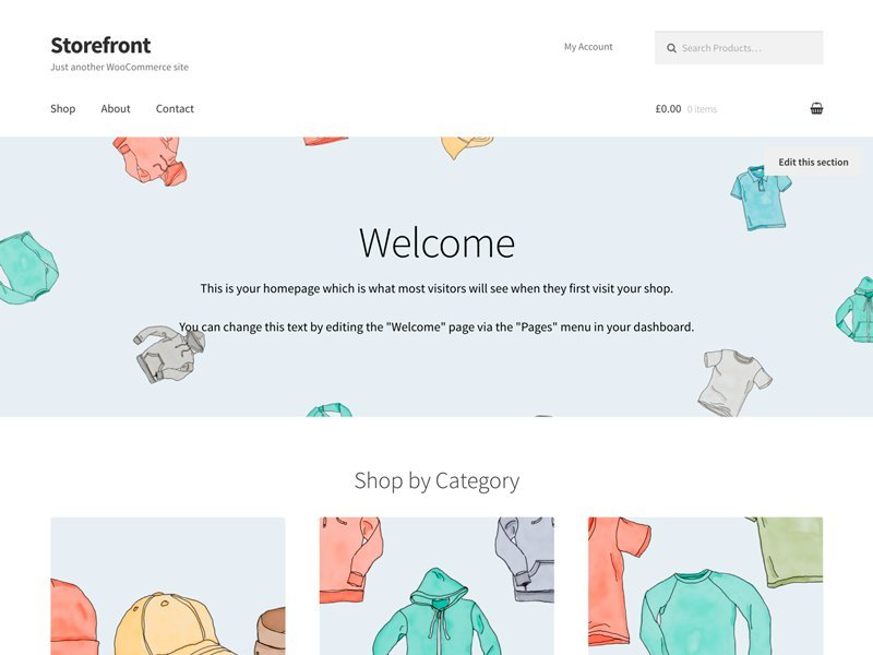 descargar plantilla wordpress Storefront gratis